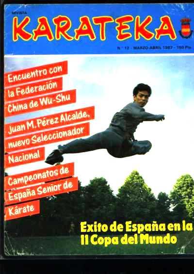 Sifu Zhao is afgebeeld op de voorpagina van een Spaanse vechtsportblad in 1987