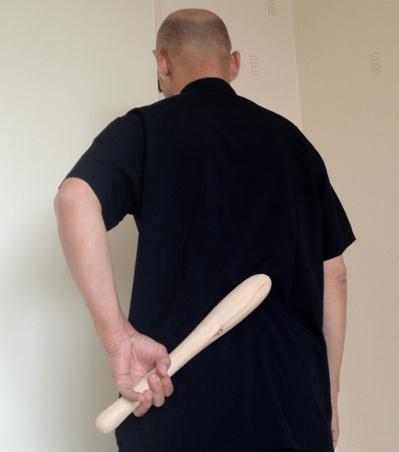 Stok massage op onderrug