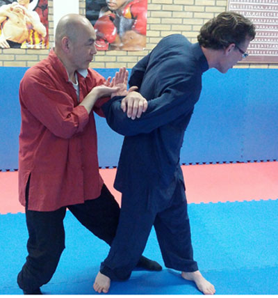 Weekend training met Tai Ji pushing hand op zondag 26 jan 2014