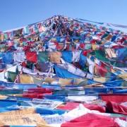 Wensvlaggen in Tibet