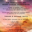 Wushu-Demo & Workshops, zondag 12 november 2017 in Den Haag